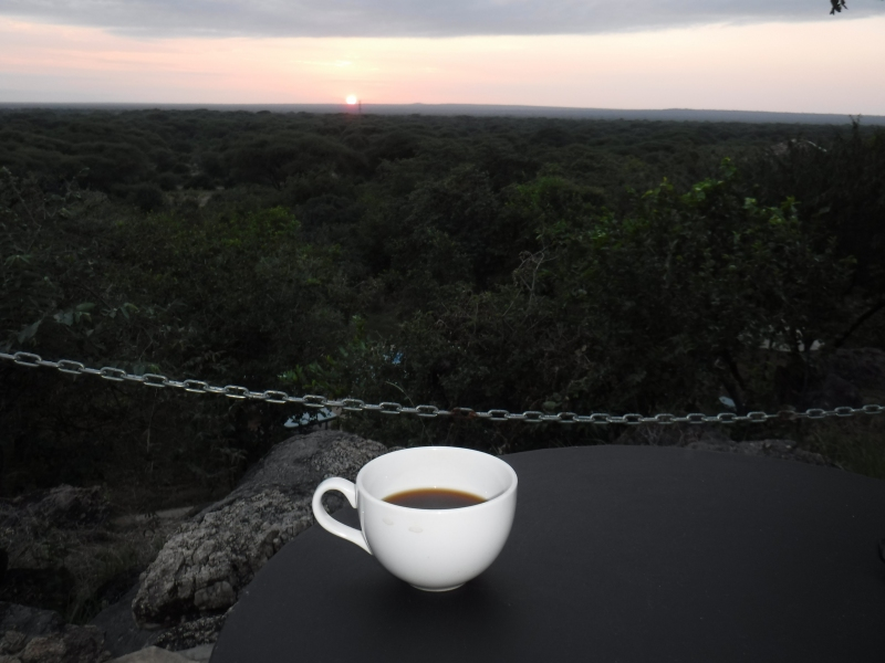 Sunrise at Sangaiwe Lodge