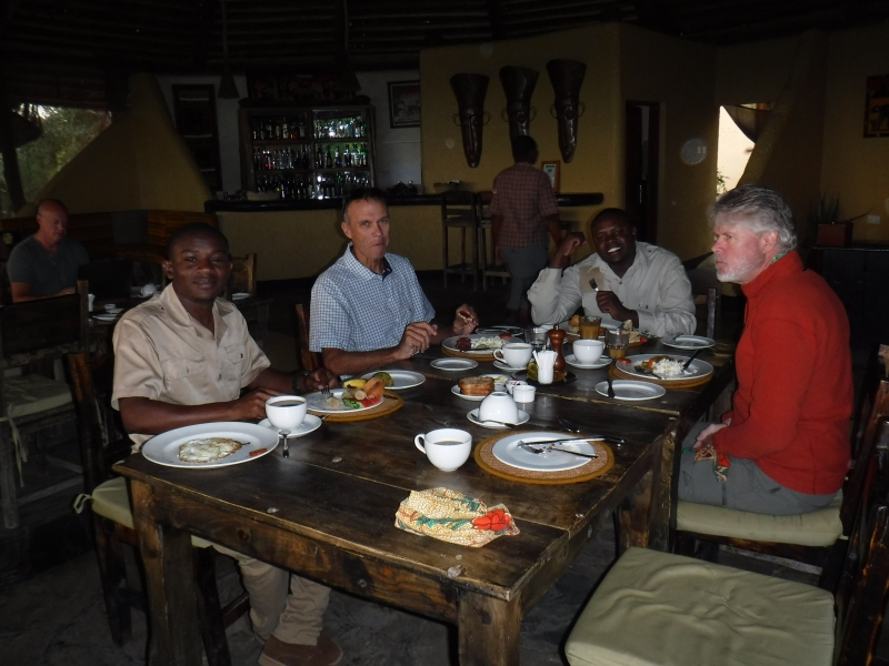 Dinner at Sangaiwe Lodge