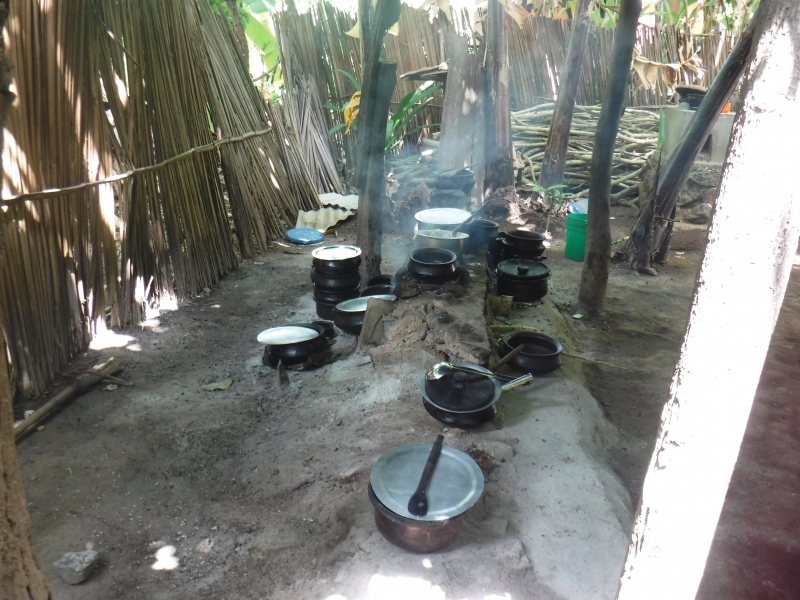 Tanzania outdoor kitchen