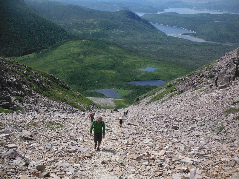 Hiking up Gros Morne Mountain - NL