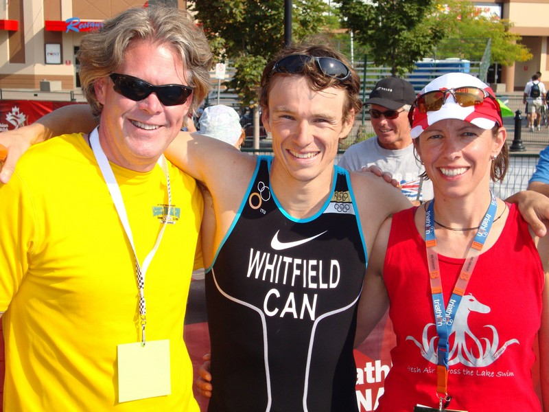 With Simon Whitfield at the 2009 Apple Triathlon
