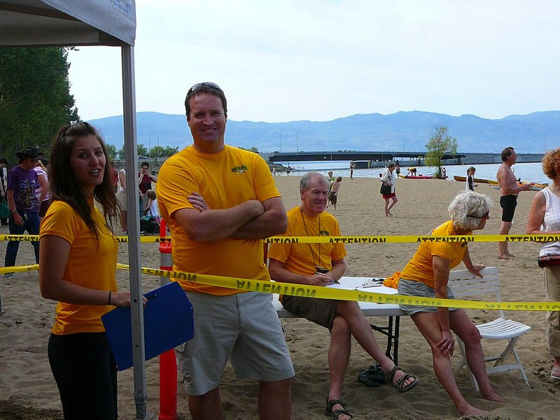 Volunteers - Across the Lake Swim 2009