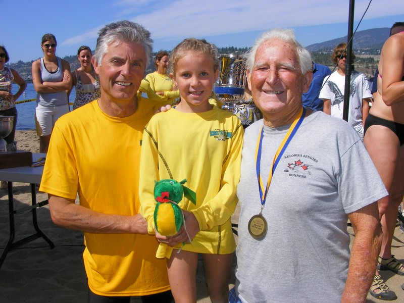 Youngest and oldest swimmer - Across the Lake Swim 2009