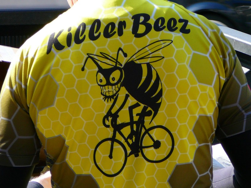 The Beez jerseys - finally here!