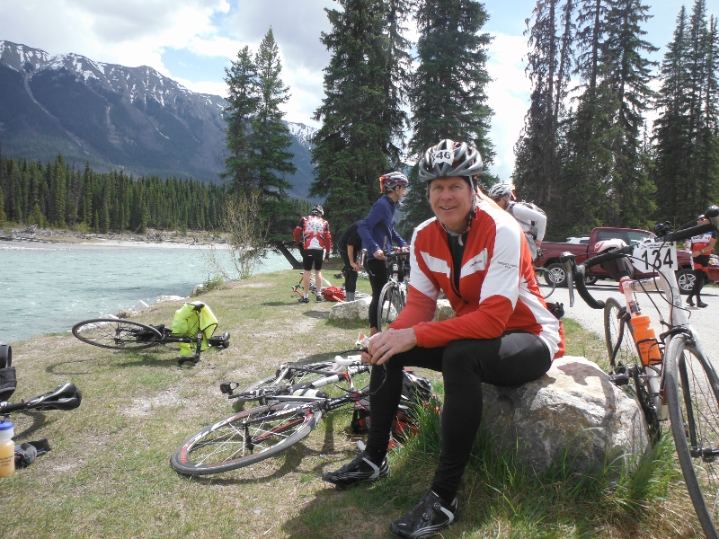 GT 2013 - Day 1 last snack by the Kootenay River