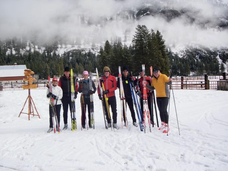 Getting ready to ski in Mazama