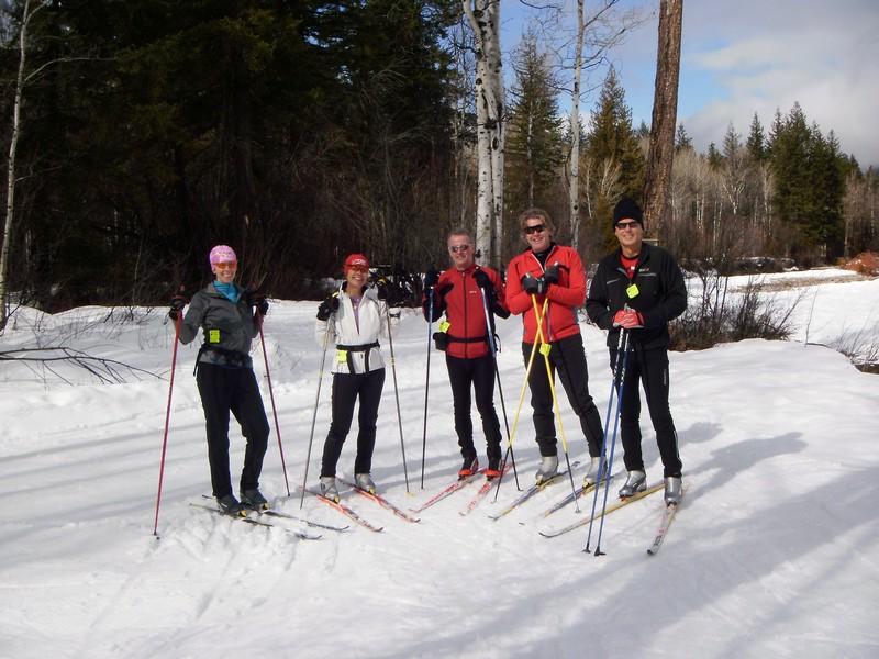Skiing in Mazama