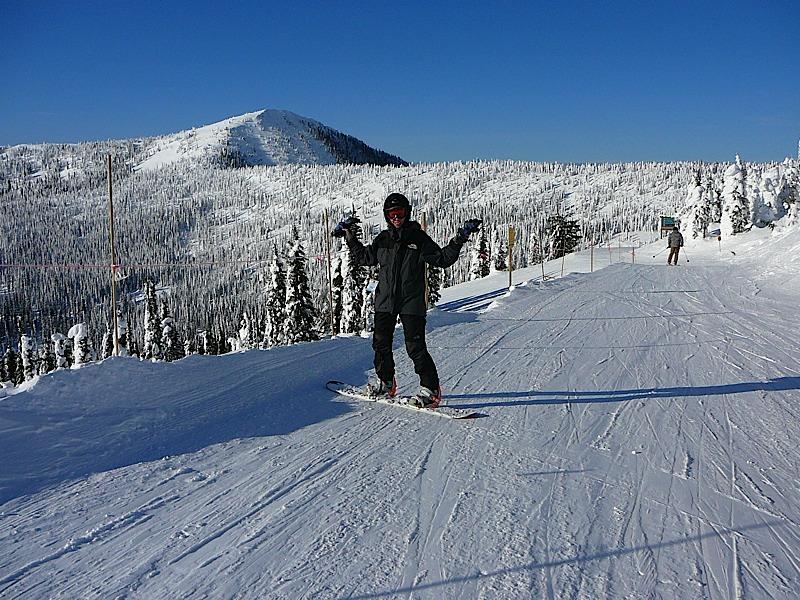 Snowboarding Rossland