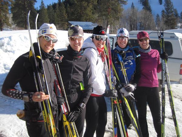 Starting a 55km ski