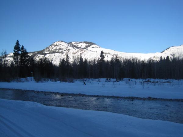 Back along the river 40km in