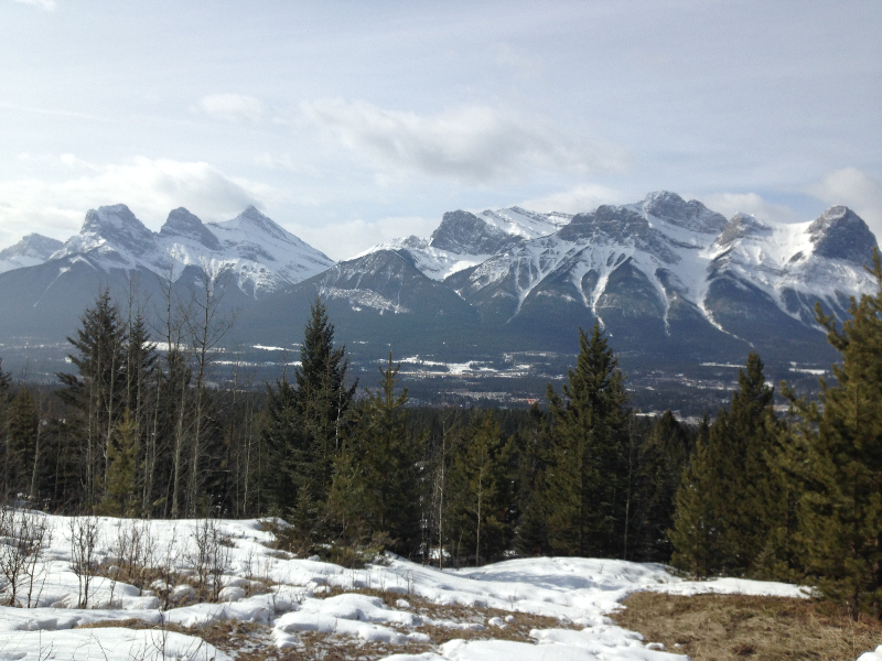 Canmore from Montane