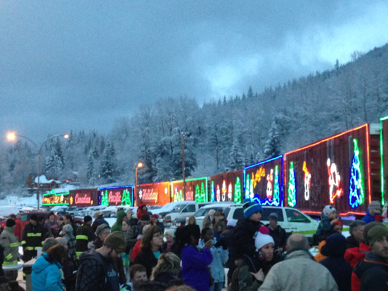 Holiday train in Revelstoke