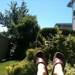 Relaxing on my patio